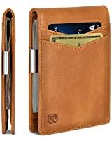 SERMAN BRANDS Money Clip Wallet - Mens Wallets slim Front Pocket RFID Blocking Card Holder Minimalist Mini Bifold (California Desert Transformer)