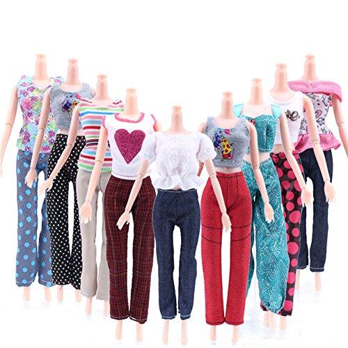 Faironly Puppenanzug, 29 cm, Weste, Jacke, Hose, Puppenkleiderserie (ohne Puppe), Verschiedene Modelle, 5 zufällig