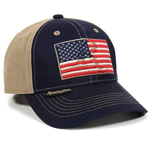 Outdoor Cap Unisex Erwachsene American Flag Navy Khaki