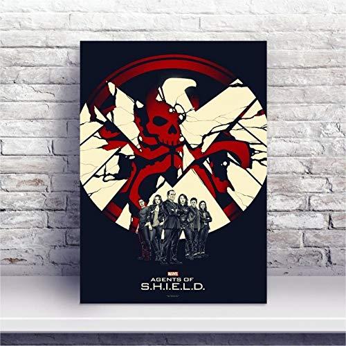 Placa MDF Agentes da S.H.I.E.L.D.