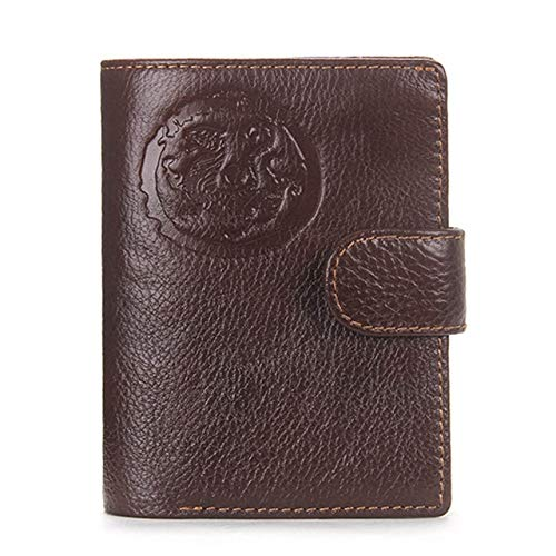 Real Genuine LEather Men Passport Holder Wallets Man Passport Cover PurseMale Credit Card Wallet - Brown