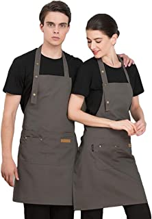Delantal Cocina Mandil para Barbacoa Mandil Ignifugo Zerimar Mandil Trabajo Ajustable Delantal Soldar Cuero Delantal de Trabajo Cuero Mandil Camarero