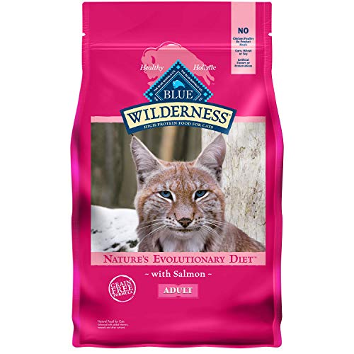 Blue Buffalo Wilderness High Protein, Natural Adult Dry Cat Food, Salmon 5-lb