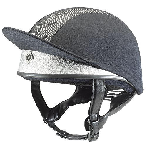 Charles Owen Pro II Plus Skull Riding Hat Silver 55cm