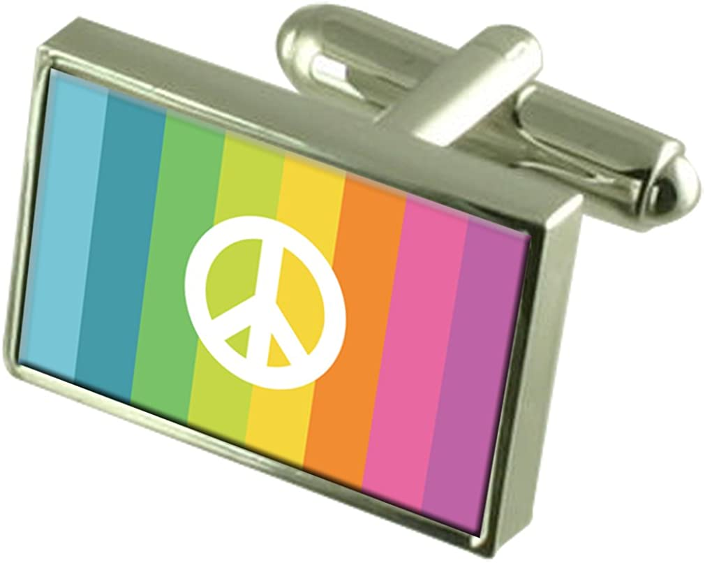 depot CND Flag Cufflinks Engraved Message Box Cheap mail order specialty store