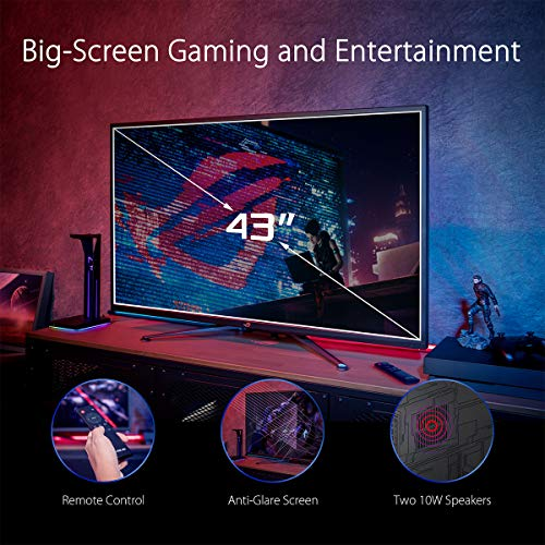 ASUS ROG Swift PG43UQ 109.2 cm (43 Zoll) DSC Gaming Monitor (4K UHD (3840 x 2160), 144Hz, G-SYNC Compatible, DSC, DisplayHDR 1000, DCI-P3 90%, Adaptive Sync, Shadow Boost) - 2