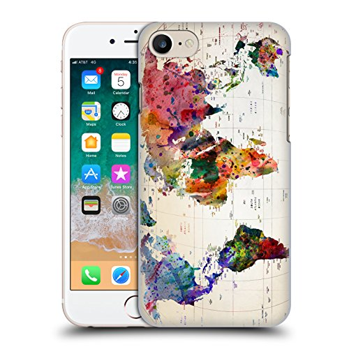 Head Case Designs Licenza Ufficiale Mark Ashkenazi Mappa del Mondo Cultura Pop Cover Dura per Parte Posteriore Compatibile con Apple iPhone 7 / iPhone 8 / iPhone SE 2020