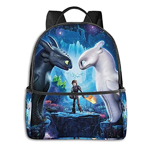 How-To-Train-Your-Dragon - Mochila para adolescentes y niños, mochila para aligerar la escuela, bolsa de deporte multiusos