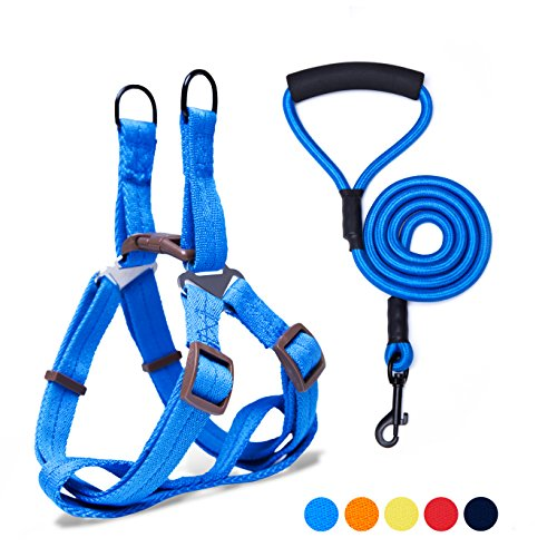 Adjustable Dog Harness Anti-Twist Dog Leash Set for Small Medium Large Dogs, Soft and Durable Vest Harness Leash for Daily Training Walking Running and Easy Control