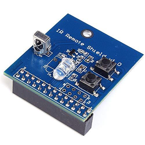 38 kHz IR Infrarot Controller Expansion Board Transceiver Receiver Transmitter Shield DIY Doppel-IR-Emitter für Raspberry Pi