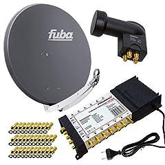 PremiumX Satelliten-Komplettanlage Fuba DAA 850