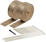 Design Engineering 010095 Titanium Exhaust Heat Wrap Kit with LR Technology, (2) 2' x 50' Rolls, 12 Locking Ties, and Locking Tie Tool