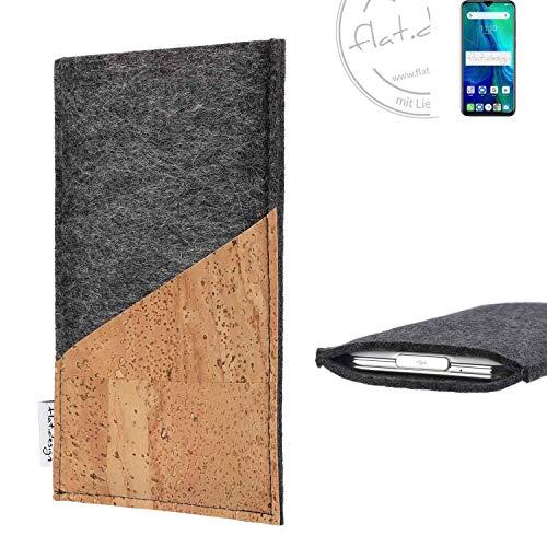 flat.design Handy Hülle Evora für Ulefone Power 6 handgefertigte Handytasche Kork Filz Tasche Hülle fair dunkelgrau