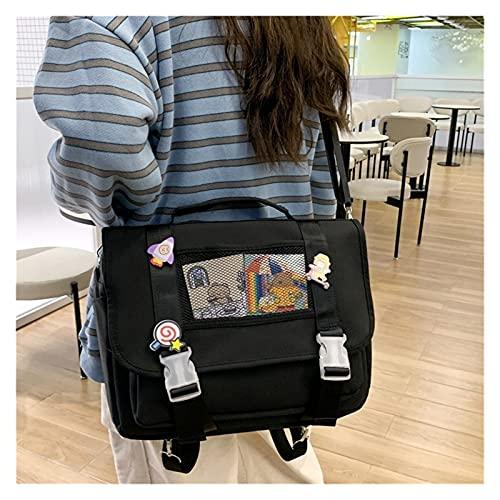 yongmutech Mochilas de Mujer Moda Japonesa for Mujer Mochila Doble Impermeable Kawaii Mujeres Bolsas de la Escuela for Las niñas Adolescentes Mochilas for los Hombros Bagpack Lindo Mochila de Mujer