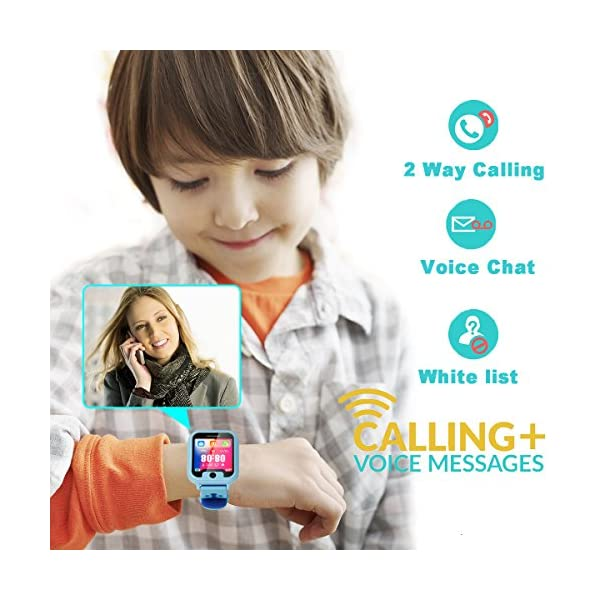 PTHTECHUS Telefono Reloj Inteligente LBS Niños - Smartwatch con Localizador LBS Juegos Despertador Camara Linterna per… 8
