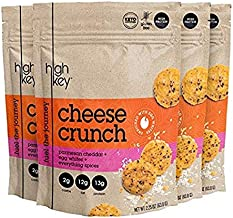 Low Carb, Gluten Free, High Protein Healthy Cheese and Egg Snack - Savory, Keto & Diet Friendly Cheese Crunch with Natural Ingredients (Everything Spices, 4, 2.25 oz Bags)