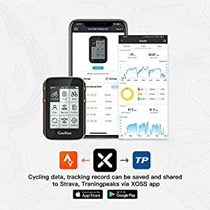 CooSpo Ordenador de Ciclismo - GPS Inalámbrico para Bicicleta - Velocímetro - Rastreador de Ciclismo - Resistente al Agua - 2.4 Pulgadas con Bluetooth y Ant+