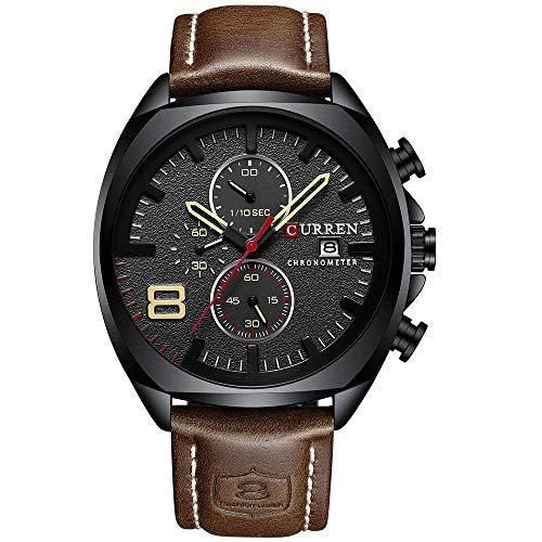 CURREN Herren Quarz Sportuhr Männlich Multifunktions Armbanduhr
