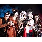 10 Stück Halloween Trinkgefäß Blutbeutel Zum Befüllen Blutbeutel IV Taschen Getränkebehälter mit Spritze Clips Blutart Aufkleber für Halloween Cosplay Zombie Party - 3