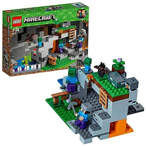 LEGO- Minecraft La Caverna dello Zombie, Multicolore,...