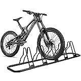 CRZDEAL 5 Bicycle Floor Parking Rack Stand-Indoor Bike Rack Lockers of Floor Stand for Storage/Garden/Yard, Black Furnish