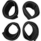 Stretch Hook and Loop Straps for Arms Legs Fasteners Resilience Strips Extender Belts,Black,4pcs