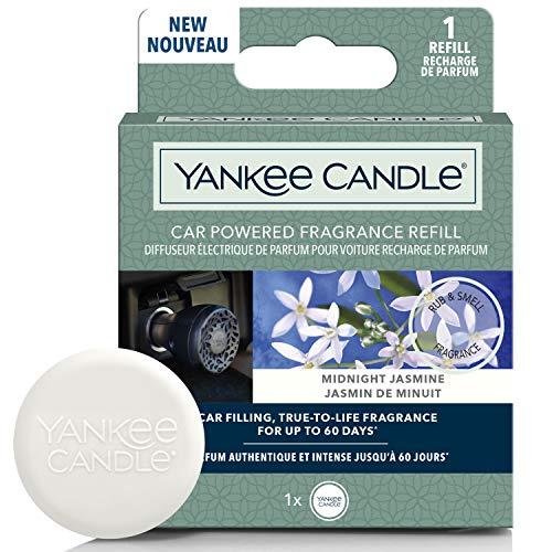 YANKEE CANDLE 1627176E Ricarica diffusore di profumi alimentati per Auto, Midnight Jasmine
