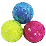 com-four® 6X Giocattoli per Cani - Palla per Cani per Recupero e Gioco - Palla Giocattolo per Cani in Diversi Modelli - Ø 6 cm (06 Pezzi - Ball Sport)