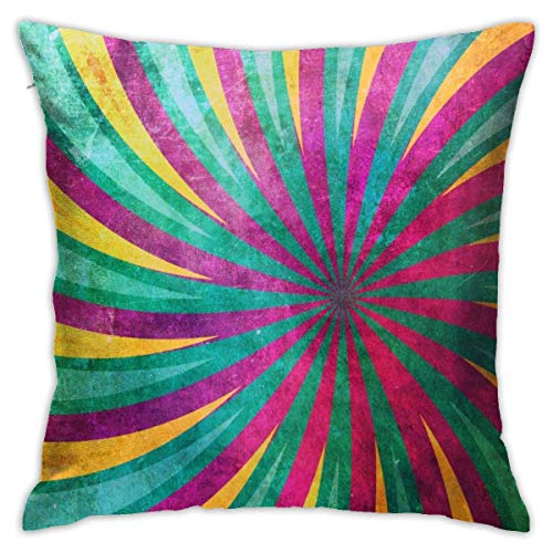 N/A Pillow Protector,Pillow Sham,Throw Pillow Case,Square Throw Pillow Covers,Yellow And Emerald Rays Modern Design Pillow Cushion Sham Case Two Sides Print