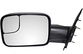 Drivers Manual Tow Side Mirror 7x10 Flip-Up Textured Replacement for Dodge Pickup Truck 55077493AN AutoAndArt