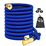RECMNGD Garden Hose 25 FT ,Expandable Garden Hose, Water Hose Flexible Garden Hose with All Brass Connectors, Leak Proof,and Durable Expanding Garden Hose (25 FT HOSE ONLY)
