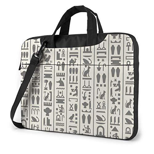 Vintage ägyptische Piktogramme Tabelle in Laptop-Tasche Notebook Computer-Schutzhülle Anti-Scratch Handtasche Umhängetasche
