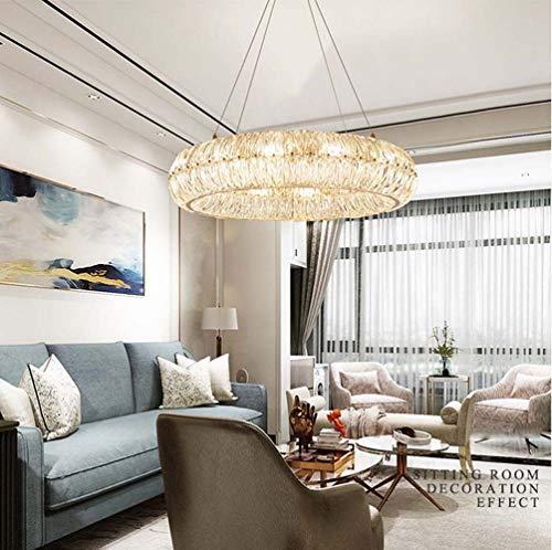 60 * 19 CM Postmodernen Licht Luxus Kristallglas Kronleuchter Ring Hochwertige Atmosphäre Italienische Villa Wohnzimmer Esszimmer Schlafzimmer Lampen Durchmesser Hängende Beleuchtung