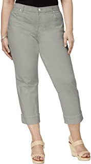 Style & Co Plus Size Cuffed Capri Jeans
