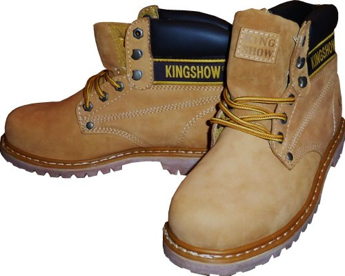 HDP KINGSHOW Men Waterproof Winter Snow Leather Boots Size 11