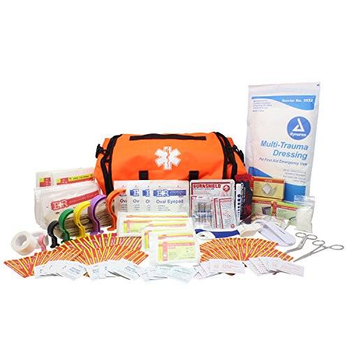 Dixie EMS Fully Stocked 147 Piece First Responder On Call Kit (Orange)
