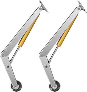Alamic Gas Springs Lid Support Hinge 200N 44lb Heavy Duty Pneumatic Lid Lifters with Soft Close Support Heavy Drop Lids - 2 Pack
