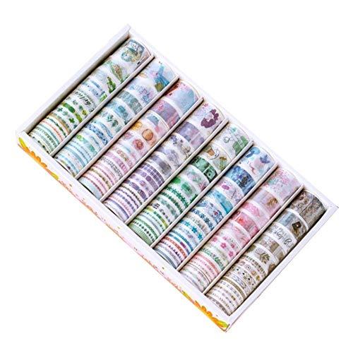 女の子 日記 帳面 和?テープ 手?DIY 装?用 シール 120枚 マスキングテープ ギフト ラッピング 剥がしやすい 素材 装飾ポスター (時のラブレター)