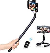 UBeesize 21 Flexible Selfie Stick, Handheld Bendable Smartphone Monopod Stand with Bluetooth Remote for iPhone X & Samsung Moblie Phone