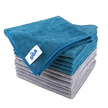 MR. SIGA Microfiber Cleaning Cloth, Pack of 12, Size: 15.7  x 15.7