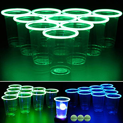 Glow-in-the-dark Beer Pong