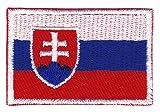 Bestellmich Slowakei Flagge Klein Aufnäher Bügelbild Größe 4,5 x 3,0 cm