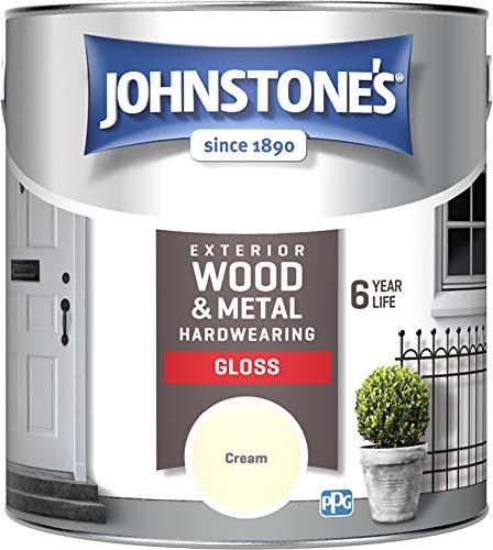 Johnstone's 309153 Exterior Gloss Paint, Cream, 2.5 Litre