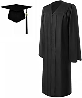 Lescapsgown Matte Graduation Gown and Cap Tassel 2019,All Sizes for Adult
