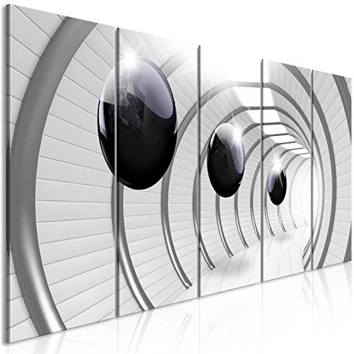 murando - Cuadro en Lienzo 3D Efecto 225x90 cm Impresión de 5 Piezas Material Tejido no Tejido Impresión Artística Imagen Gráfica Decoracion de Pared Bolas Gris a-C-0001-b-m