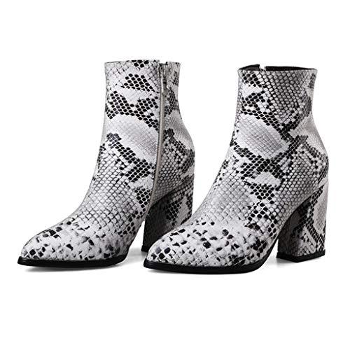 Posional Botas De Mujer Punta Zapatos Botin Sexy Vaca Cuero Empalme Con Cordones Costura Botines Cuadrados Antiguos Con Cremallera Lateral Personalizada En El Tobillo Para Mujer Cortos Casuales