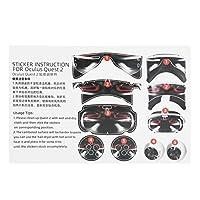 VRコントローラーヘッドセットステッカー、VRヘッドセットステッカーPVC素材、プロ用の機器を保護するためのマニュアル付き(Carbon black)