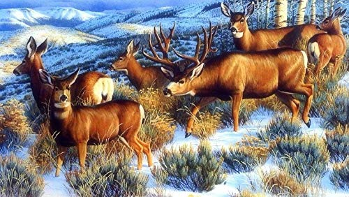 Puzzel 35 Stukjes Winter-Bos-Mooie-Herten, Educatieve Spellen, Puzzelgeschenken Voor Vrienden