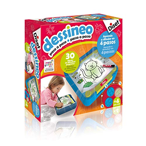 Diset - Dessineo aprender a dibujar paso a paso - Juego educativo a partir de 4 años