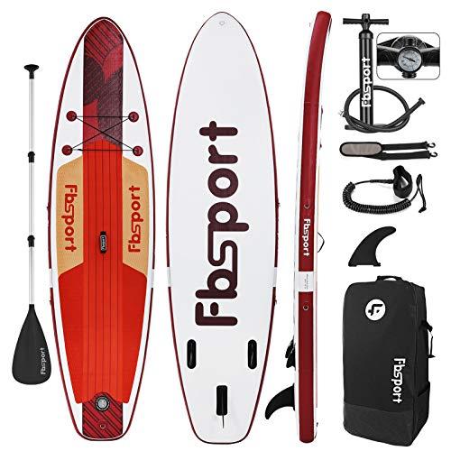FBSPORT Tabla Sup Hinchable, Tabla de Stand Up Paddling, Tabla Paddle Surf Hinchable, Tabla de Sup, Tabla de Surf Kit con Remo de Aluminio+Bomba+Aleta Desprendible | Longitud: 335cm